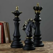 """JUILLET ART Large Chess Ornaments King 15.5"""" Queen 14"""" Knight 9.5"""" Art Pieces"""