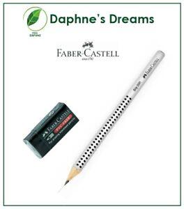 2 pcs Faber Castell GRIP 2001 Ergonomic Triangular Pencil 2B Available &  Eraser