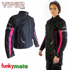 Women's Textile Motorcycle Jackets with CE Approved Armour