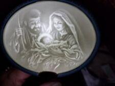 NEW 2000 The BLESSED FAMILY Hallmark KEEPSAKE Porcelain LIGHTd Nativity ORNAMENT