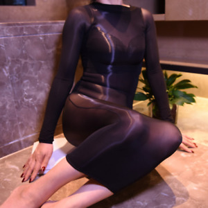 Women Sexy Bodycon Dress Plus Size Pantyhose 8D Bodystockings Tights Clubwear