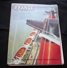 "CGT Via FRENCH LINE SS ""FRANCE"" Magazine #18 1962"