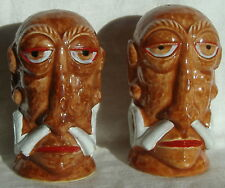 Mr Bali Hai Vintage Tiki Salt & Pepper Shakers San Diego California
