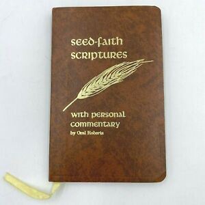 Seed Faith Scriptures Oral Roberts 1972 with Personal Commentary Pocket Size BK4