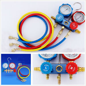 Car Air Conditioning Fluoride Meter Set Snow Pressure Gauge Double Meter Valve
