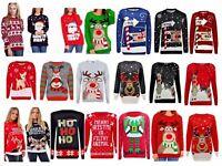 New Ladies Men Christmas Xmas Unisex Jumper Sweater Retro Novelty Vinatage Sizes