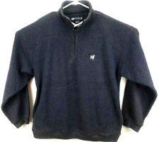 Big Dogs Men's Pullover Sweatshirt M Long Sleeve 1/4 Zip Blue/Gray Textured
