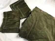 """Hawthorne Hill Full Size Green Corduroy Duvet Cover 80""""X 88"""" & 2 Pillowcases"""