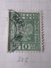 POLOGNE, 1928-29, timbre 357, ARMOIRIES, oblitéré, VF used stamp
