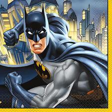BATMAN Gotham Hero LUNCH NAPKINS (16) ~ Birthday Party Supplies Serviettes Comic