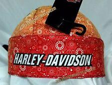 Harley-Davidson Paisley Red Orange Yellow Flamed Sublimation Headwrap Doo Rag