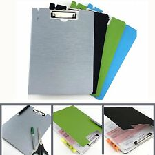 4pk  Standard Size File Document Cover Assorted Plastic Clipboards LOT