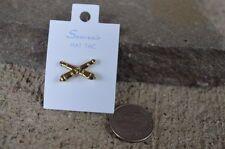Civil War Brass Artillery Hat Lapel Pin Relpica US/CSA Insignia