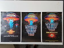 Boston 11x17 40th anniversary Hyperspace band tour promo concert poster lp joan