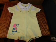 Baby Chick Yellow Polyester Romper Vintage Mid Century Kmart Taiwan