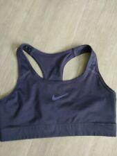 Nike Dri Fit ladies M dark purple workout sports  bra.