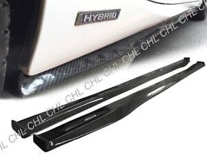 DP Style Carbon Fiber Side Skirt Add-on Lip For 13-18 Lexus IS250 IS350 F-Sport