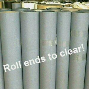 Grey Safety Flooring - CHEAP Roll End Sale! Anti Slip Industrial Vinyl new SAVE!