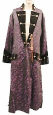 Heavy Gothic Raven purple /black Pirate Jacket With Chain Compass Ra6cg L