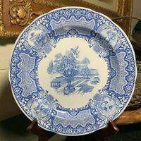 "Spode Blue Room Seasons 10 1/2"" Dinner Plate Made in England - Pristine"