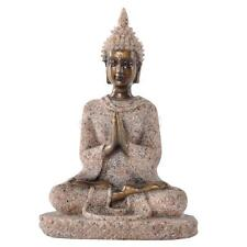 Hand Carved Sand Stone Hindu Tribal God Meditation Buddha Statue Decor #3