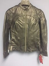 Z1R Women's 243 Leather Motorcycle Riding Jacket Black Size X-Small