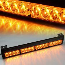 """Amber 18"""" 16 LED Emergency Warning Light Bar Traffic Advisor Strobe Flash Lamp"""
