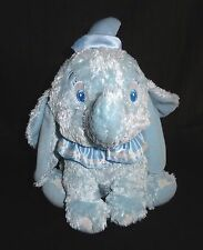 "Disney Dumbo Plush Elephant Light Baby Blue Shimmer Sewn Eyes 11"""