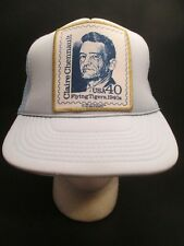 Claire Chennault Stamp Trucker Hat Mesh Snapback World War 2 Flying Tigers Patch
