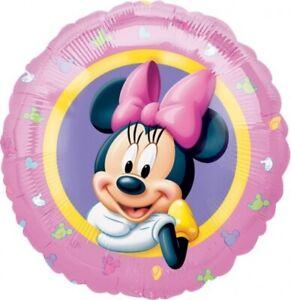 Minnie Mouse Party Supplies Portrait Round Foil Balloon 45cm Approx