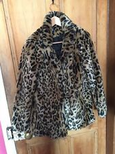 Faux Fur Leopard Print Jacket Aged 14 -16 Small NEW LOOK