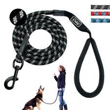 Reflective Braided Nylon Dog Leash Strong Long Lead for Medium Large Dog Walking
