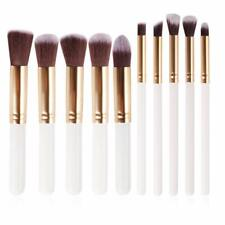 Proxonic-10 Pcs Makeup Brush Set Collection Exquisite Box packaging (White Gold)
