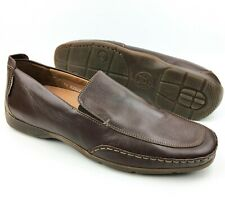 Mephisto Men's Edlef Dark Brown Leather Slip-On Dress Shoes Loafers sz: US 10.5