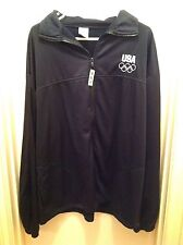 UNITED STATES OLYMPIC COMMITTEE USA OLYMPICS JACKET MENS BLACK 3XL FULL ZIP