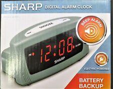 Sharp Digital LED Alarm Clock with Snooze & Battery Backup, Model - SPC054 - NEW