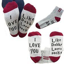 Harry Potter fan sock pair I love you like Dobby loves socks gift present