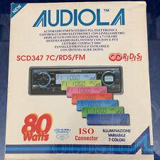 ►AUDIOLA SCD 347 7C/RDS/FM◄AUTORADIO CD NUOVA!VINTAGE FONDO MAGAZZINO