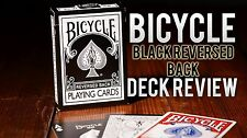 Bicycle Reversed Back Playing Cards Black Deck 2Nd Generation - Magic Tricks