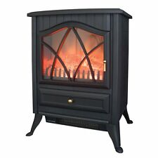 Benross Cast Iron Effect Fire Electric Stove 1800 W Black NEW