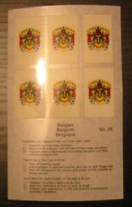 LINDNER - Wappenblatt Belgien