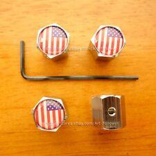 1 Set Brand New logo USA National Flag Anti-Theft Locking Tire Air Valve Caps