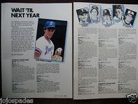 "1985  Tommy Glavine-Greg Maddox-2 Pge Pic Article-8.5x10.5""Prospects-Original"