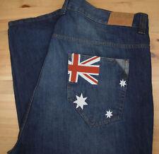 COOGI Australia Mens 46x34 Dark Wash Relaxed Flag Denim Jeans