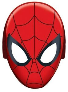 SPIDERMAN WEBBED WONDER PAPER MASKS PACK OF 8 PARTY FAVOURS SUPPLIES