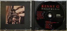 KENNY G - Breathless; 1992 Arista; w/Peabo Bryson & Aaron Neville; 16 p. Booklet