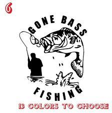 Bass Fishing Vinyl Stickers decals,car,window,van, Laptop (REF NO 6)
