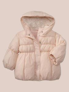 NEW GAP PINK WARMEST PUFFER COAT JACKET SIZE 12-18-24M