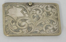 Original ANTIQUE  c1900's~~ Silver NEEDLE CASE w/ SCROLL DESIGN~~HALLMARKED