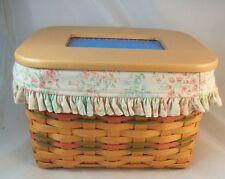Longaberger 2002 Mothers Day Basket Moms Memories w Lid